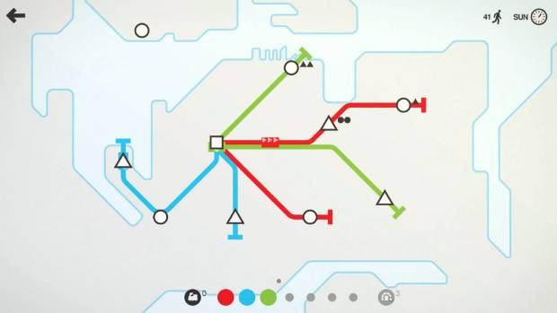 A hypothetical metro map for Auckland from the game.