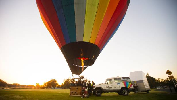Brown took a group up in his hot-air balloon on Friday morning, which he described as the perfect conditions for flying.