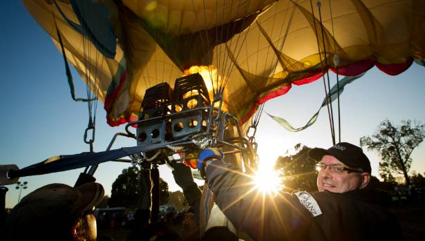 Hamilton Balloon company pilot Mark Brown is gearing up for Balloons Over Waikato, which runs from Wednesday to Sunday ...