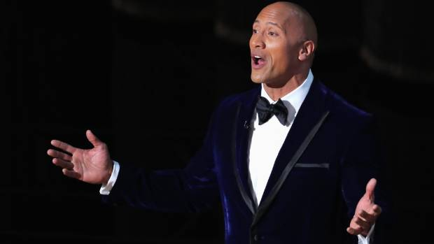 """Dwayne """"The Rock"""" Johnson at the 89th Academy Awards."""