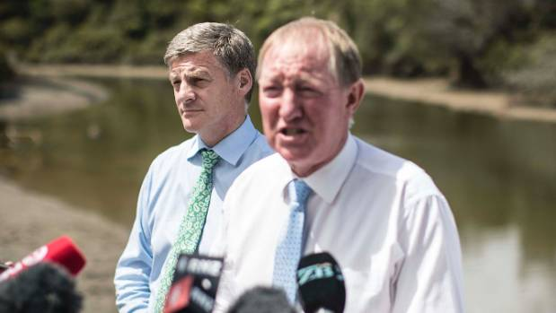 Environment Minister Nick Smith at the announcement to clean up New Zealand's waterways at Riverhead.