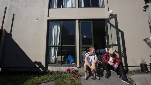 Riccarton tenants William Wallace, left, and Ed Carvell are happy with their home - and how much they pay for it.