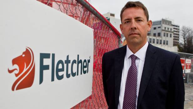 Fletcher Building chief executive Mark Adamson has weathered criticism about the downgrade.