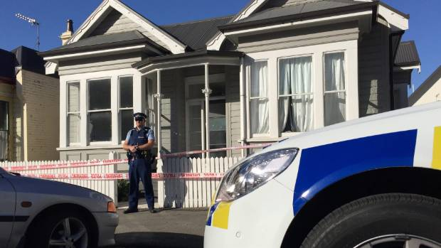 Police cordoned off a house on Dundas St, in Dunedin, after a reported sexual assault on Friday night.