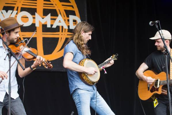 The East Pointers on stage.
