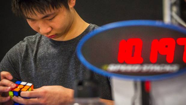 The current national record for the 3x3 Rubik's cube was 6.6 seconds. Competitors at Saturday's competition were seeking ...