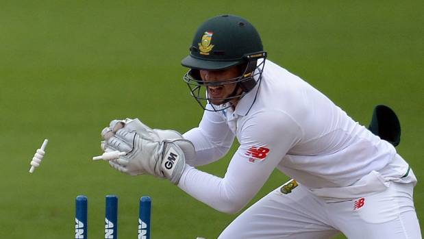 South African wicketkeeper Quinton De Kock is in doubt with an injured finger.