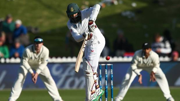South Africa's Hashim Amla at the crease.