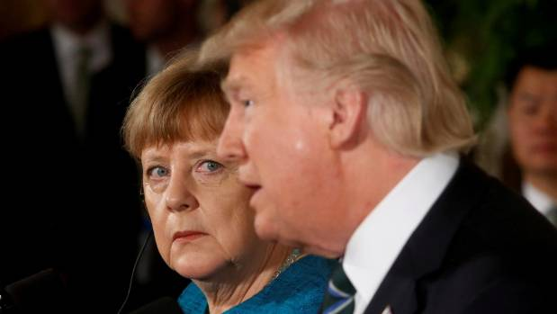 Germany's Chancellor Angela Merkel visited US President Donald Trump - now tensions are high.