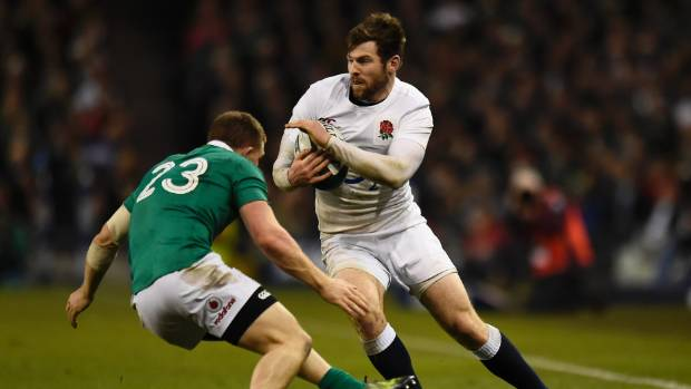 England's Elliot Daly is tackled by Ireland's Andrew Conway during Ireland's 13-9 win.