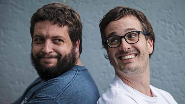 David Farrier (right) says he and Dylan Reeve are not losing sleep over the prospect of legal threats stemming from ...