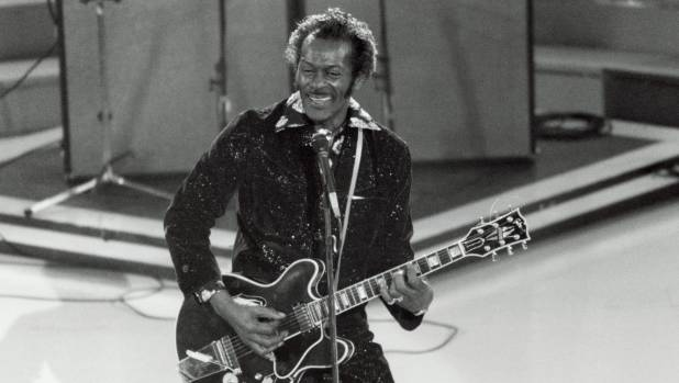 Chuck Berry performing at the 1984 Grammys, where he received a Lifetime Achievement Award.