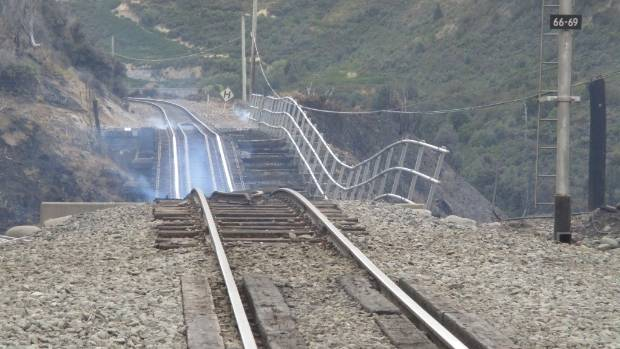 A section of the Midland line, which was damaged by a fire over Waitangi weekend.