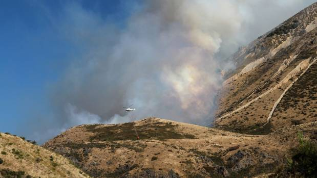Helicopters were used to battle the 300-hectare fire near Springfield over Waitangi weekend.