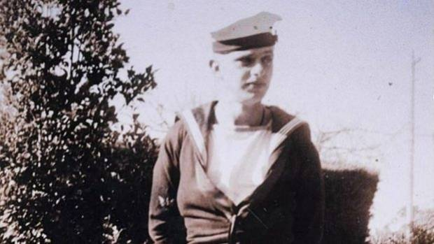 Bradley in his naval uniform during the war, circa 1944-45.
