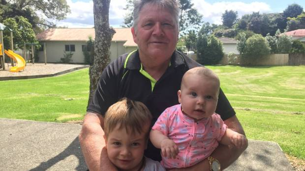 Roger Pauling with his grandchildren Harper Pauling and Alex Pauling at the Integrated Neurological Rehabilitation ...