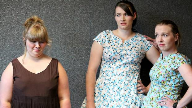 Shayna Tattersfield, left,  plays Cindy Rella in the upcoming Be-Bop-A-Lula musical by Hutt City Musical Theatre along ...