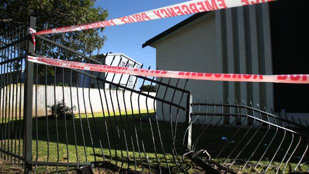 A car ploughed into a Seventh Day Adventist Church fence in Otara.
