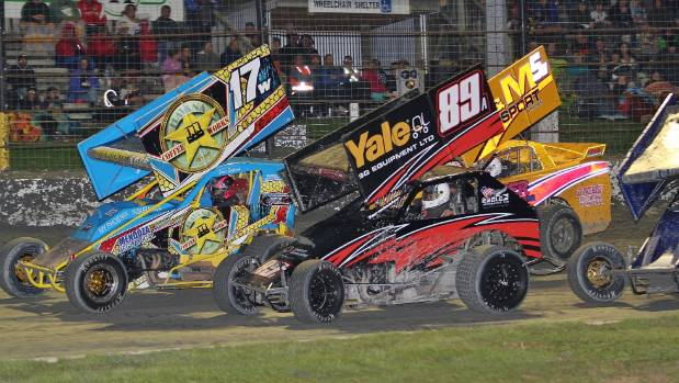 Jonas England (17) was the star driver in the field and won the North Island modified Championship at Stratford Speedway ...