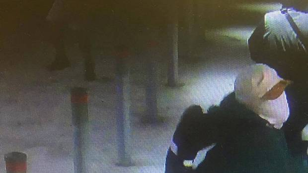 A group of youth in Kaikohe attempt to break into the Mobil Service Station on March 18.