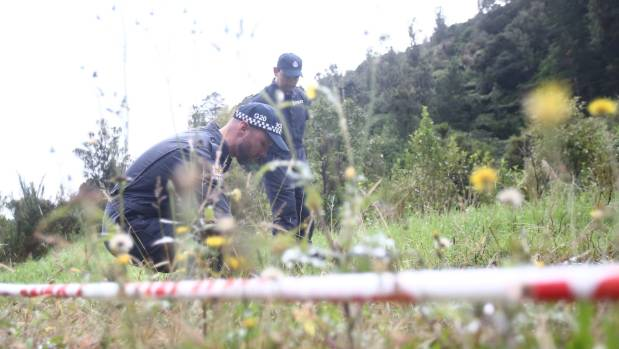 Police process the Dome Valley scene.