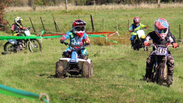 The peewee track for beginners was busy at the Hikutaia School trail ride.