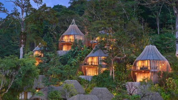 There are 38 villas at this unique resort.