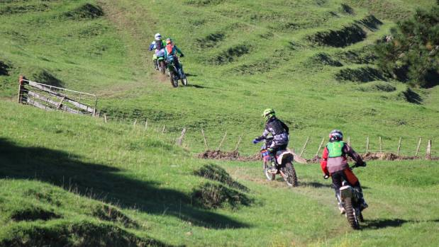 Riders tear up the 30km senior trail.