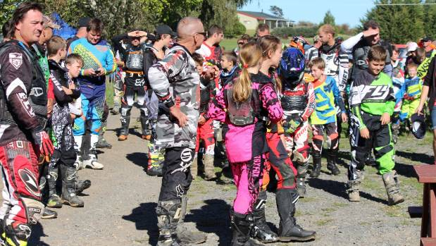 Riders gather for the Hikutaia Trail Ride briefing.
