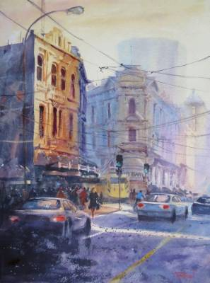 A collection of works by watercolour artist Jacky Pearson.