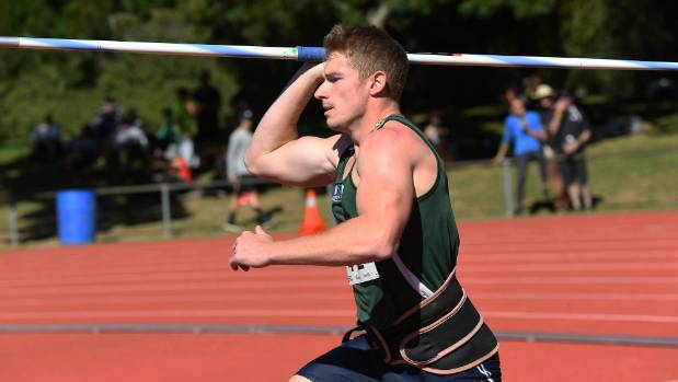 Manawatu's Ben Langton-Burnell won the New Zealand men's javelin title at the national track and field championships at ...
