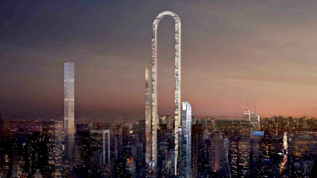 "A conceptual design by Oiio Studio proposes ""the Big Bend"" as Manhattan's longest (not tallest) residential building."