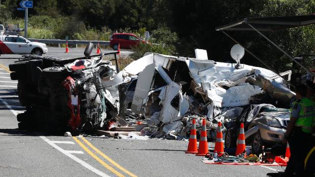 The scene of the double fatal crash on the Coastal Highway.