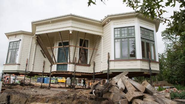 A 1905 home on Alfred St, Palmerston North, is being shifted to make way for new development.