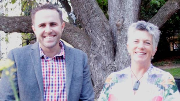Neighbourly's Casey Eden and councillor Penny Hulse are encouraging Aucklanders to make connections on Neighbourly by ...