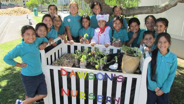 Dawson Primary School pupils are growing vegetables in unusual containers including empty egg shells and a hollowed out ...