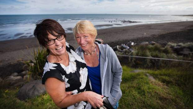 Lynne Le Roux and Marilyn Jones only swim at East End Beach.