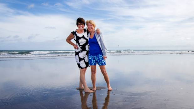 Lynne Le Roux and Marilyn Jones agree that wearing wetsuits to swim in the ocean is cheating.