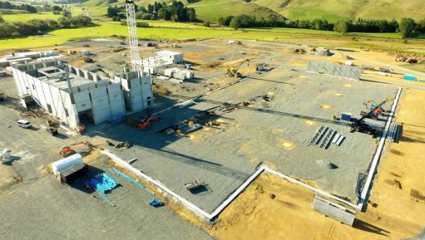 Construction work at the Mataura Valley Milk plant at McNab is on schedule.