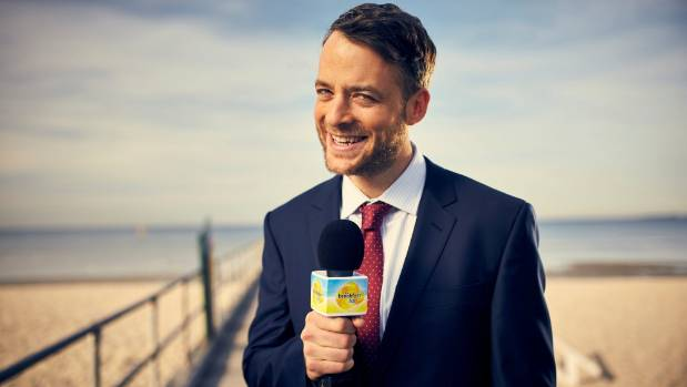Hamish Blake provides comic relief in The Wrong Girl as Hamilton the TV weatherman.