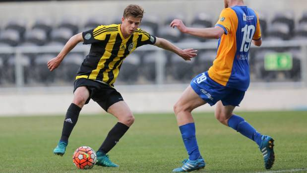 Alex Rufer in a rare appearance for the Wellington Phoenix's reserve team this season.