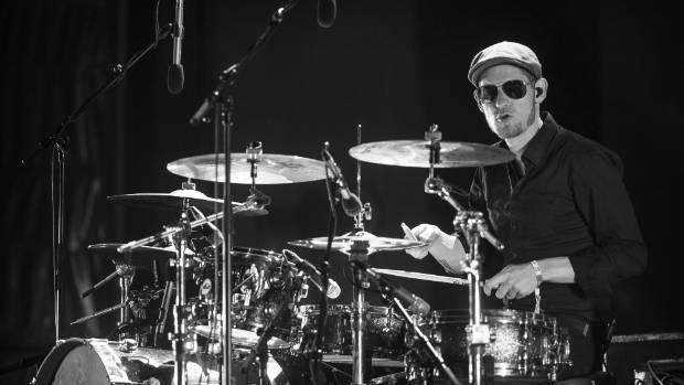 Parov Stelar drummer Willie Larsson Jr playsn on the Bowl Stage.