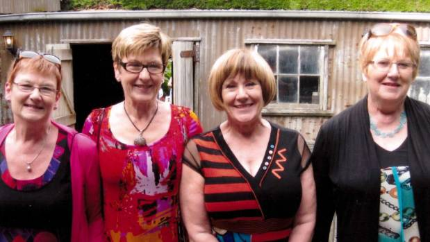 The granddaughters of John Stevens, from left,  Lynley Dean, Robyn Powley, Shirley Fentiman and Judith Stevens.
