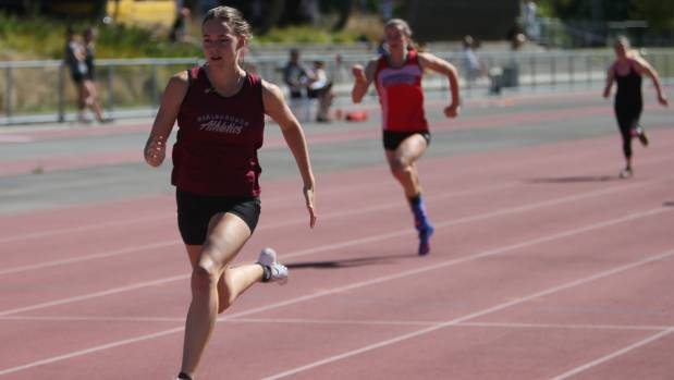 Lucy Sheat won the 100m-200m double at the New Zealand Track and Field Championship in Hamilton on the weekend.