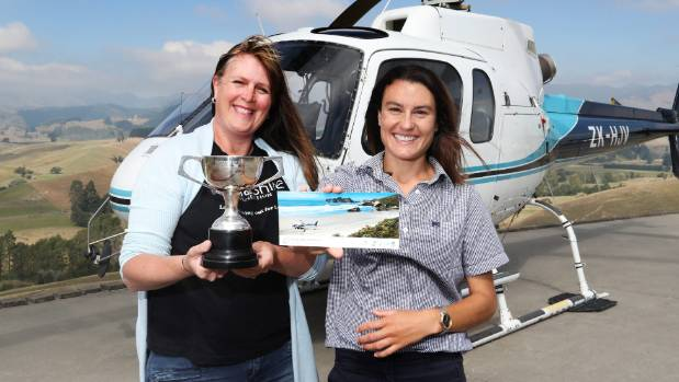 Fifeshire Foundation manager Rachel Swarbrick, left, with Rachael Reid. Reid Helicopters is donating a trip to Mt Owen ...