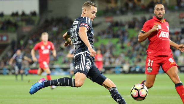 New All White Jai Ingham in action for the Melbourne Victory in the A-League.