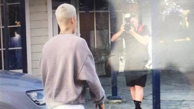 Justin Bieber was seen in Arrowtown on Sunday, where about 60 fans awaited for him outside a restaurant.