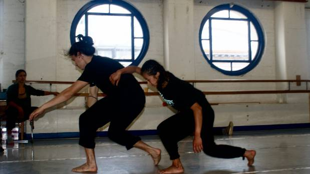 Anu Khapung and Joshua Faleatua rehearse a piece choreographed by Nancy Jo-Wijohn for Rebel Pink.