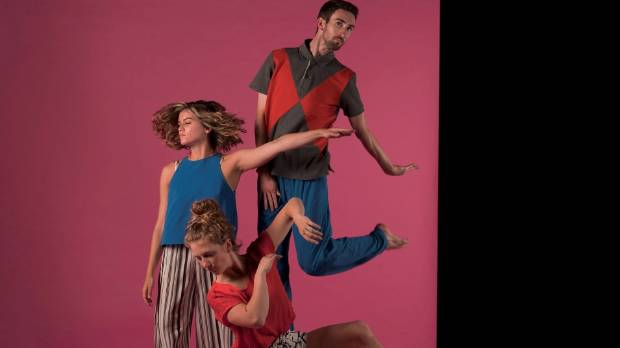 Footnote dancers Tyler Carney, Georgia Beechey-Gradwell and Adam Noughton feature in a piece choreographed by Holly ...