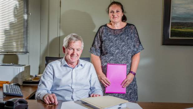 Council chief information officer Stacey Young, pictured with Marlborough Mayor John Leggett, wants to completely ...